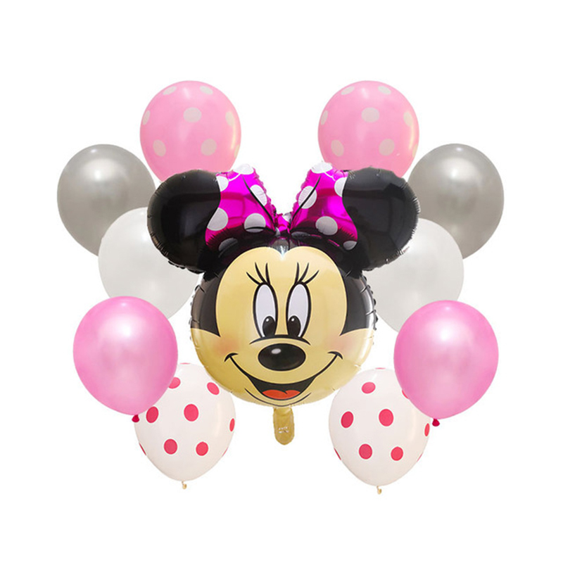 """Baby shower party supplies décoration pink dots foil 18 /""""balloon"""