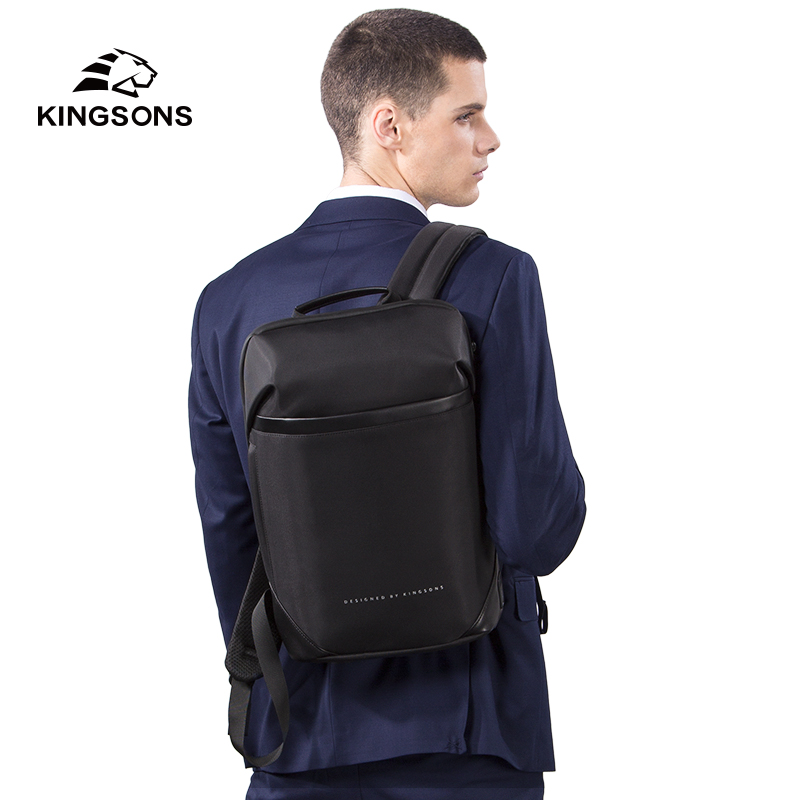 """Kingsons New Men Ultra-slim Backpack For 15.6"""" Laptop Anti-theft Waterproof Fashion Backpacks High-quality Business Bags Mochila"""