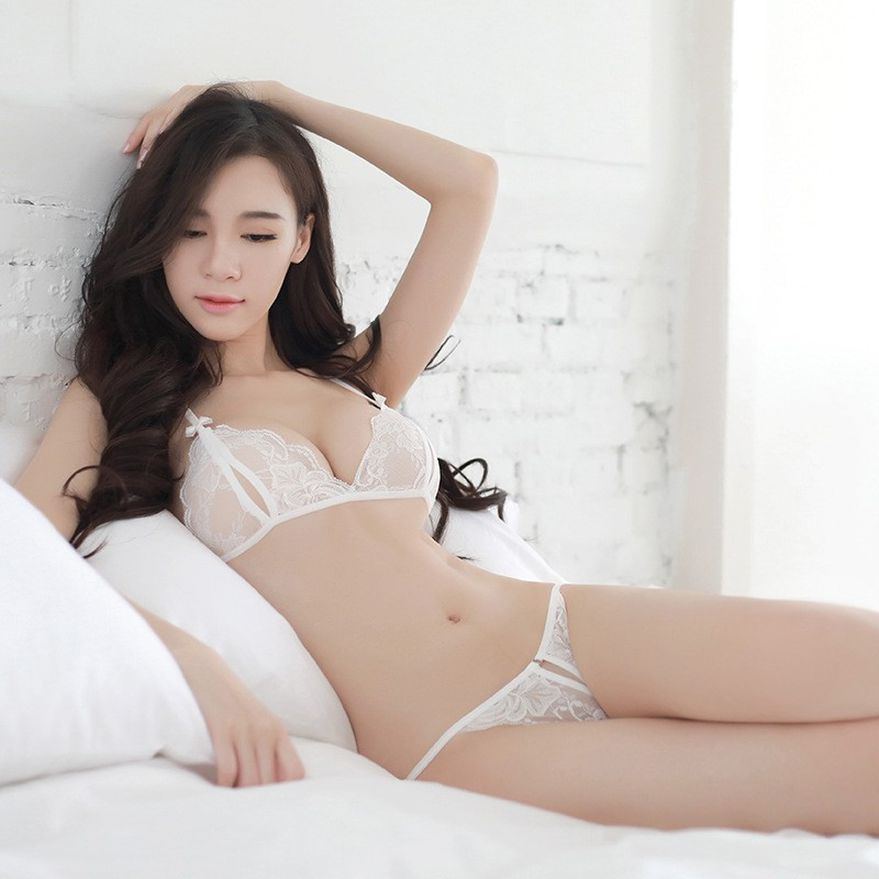 2019 Sale Big Sizesummer Explosions Sexy Three-point Female For Seduction Lace Bra Crotch Underwear Transparent Tie-up Size Set