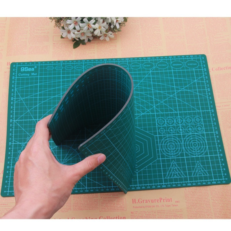A4 PVC Cutting Pad Penknife Set Hand Account Special Hand Pad Double-sided Scale Board Hand Account Soft Table Pad Cutter