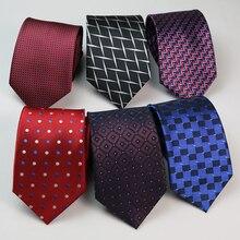 8CM Mens Ties Dots  Jacquard gravata corbatas Paisley Formal Dress Necktie Neck ties For Men Neckwear Groom Wedding Party