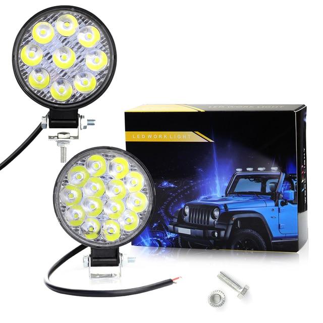 27/42W Car LED Bar Worklights Offroad Work Lights 9/14 Lamps Modified Headlight Engineering Spotlights For ATV UTV Truck Tractor