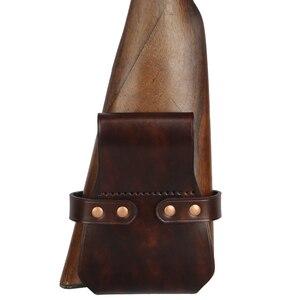 Image 5 - Tourbon 戦術狩猟銃アクセサリー銃銃床散弾銃ヒップホルベルトライフルホルダー本革