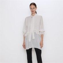 2020 ZA Spring New Women's Chiffon Shirt Fashion Bow Blouse