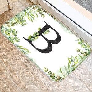 Image 3 - Alfombra de franela Rectangular con alfabeto de 40*60 colores, alfombra de suelo lavable, alfombra decorativa para dormitorio de casa, alfombra antideslizante para Baño