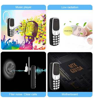 Super Small Mini Mobile Phones Bluetooth Earphones Voice Changer Dialer Low Radiation Dual SIM Cell Phones PK 7s+ KK1 J8 J9 T3 5