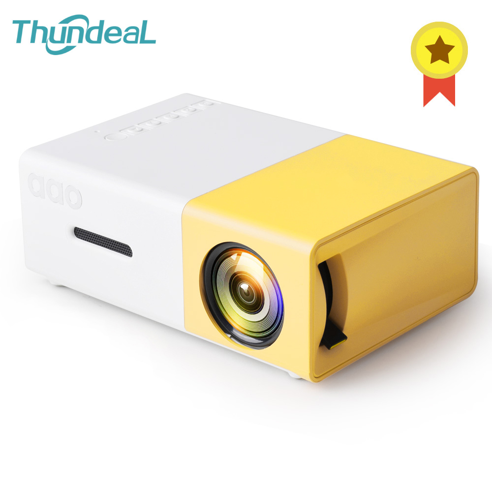 Thundeal YG300 Mini Projector Audio <font><b>YG</b></font>-<font><b>300</b></font> HDMI USB Mini Projector Support 1080P Home Media Player YG300 Proyector Drop Shipping image