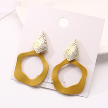 Fashion Simple Irregular Pattern Earrings Handmade Zinc Alloy Plating Spray Pendant Gift Accessories Jewelry