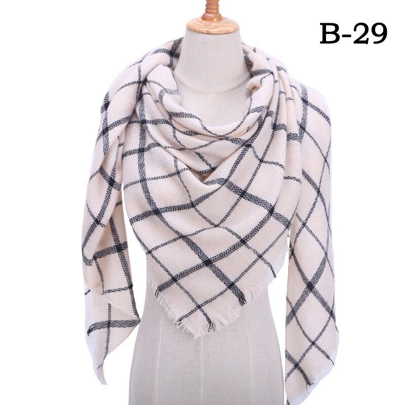 Женский зимний шарф в ретро стиле, кашемировые вязаные пашмины шали, женские мягкие треугольные шарфы, бандана, теплое одеяло, новинка - Цвет: bb29