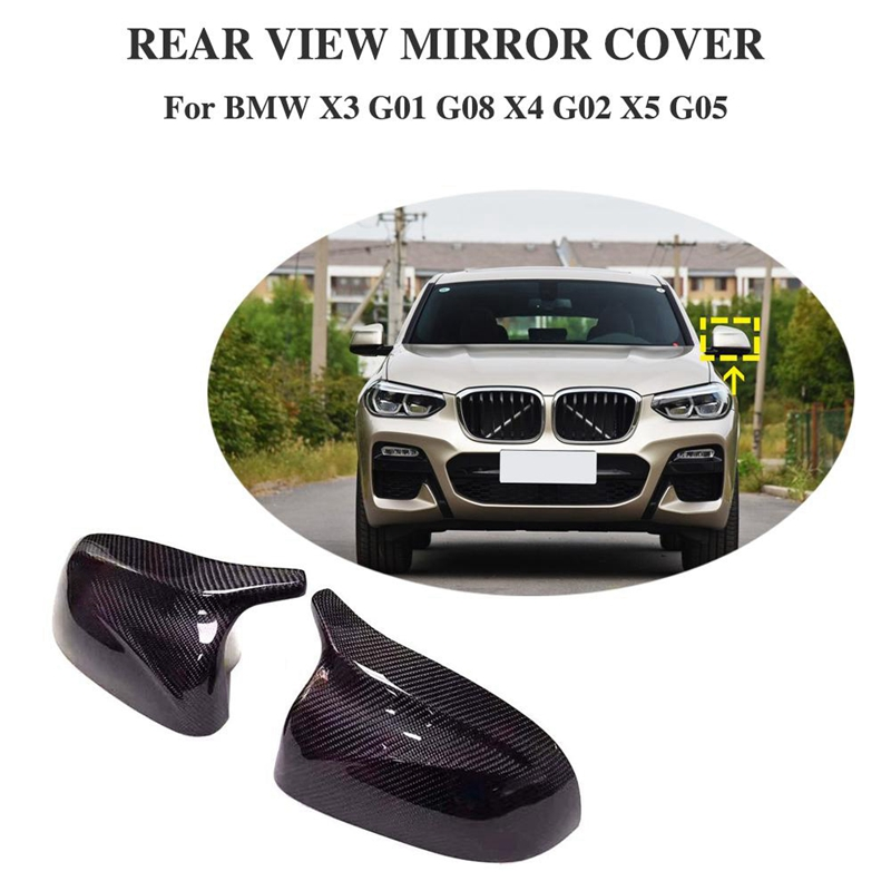Para BMW nuevos modelos X3 G01 X4 G02 X5 G05 cubierta de espejo retrovisor lateral M Color negro brillante 2018 UP - 6