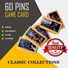 Qualidade superior 150 em 1 jogo cartucho 60 pinos 8 bit cartão de jogo 143 em 1 bolso jogos coleção 500 em 1 região livre