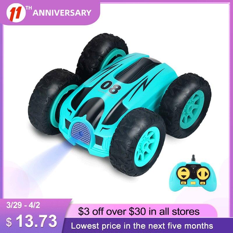 3.7 Inch Rc Auto 2.4G 4CH Dubbelzijdig Bounce Drift Stunt Auto Rock Crawler Roll Auto 360 Graden flip Afstandsbediening Auto Kinderen Speelgoed 1