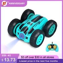 Coche teledirigido de doble cara para niños, juguete de coche de 3,7 pulgadas, 2,4G, 4 canales, con giro de 360 grados y Control remoto