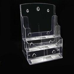 3 Tier Acryl Brochure Houder Kaarthouder Literatuur Houders Flyer Houder Plastic Display Stand Desktop File Storage Rack