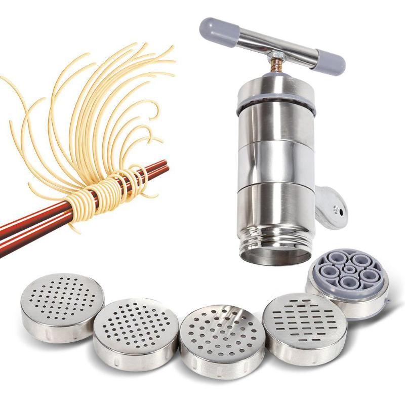 Noodle Maker Haushalt Manuelle Edelstahl Drücken Maschine Küche Werkzeug Hohl Nudel Maschine Handgemachte Nudel Maschine