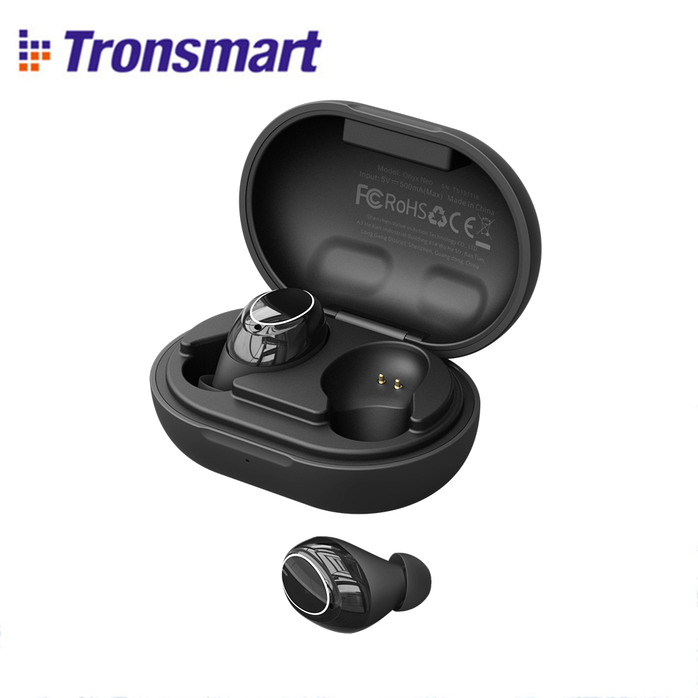 Volume Control Tronsmart Onyx Neo Bluetooth Earphone APTX TWS Wireless Earbuds with Qualcomm Chip 24H Playtime Noise Cancelation