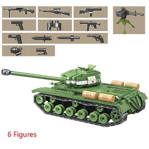 Image 2 - 1068 stücke Military IS 2M Heavy Tank Soldat Waffe Bausteine fit LegoING Technik WW2 Tank Ziegel Armee 100062 Kinder Spielzeug geschenke