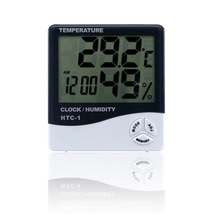 цена на Cheap LCD Electronic Digital Temperature Humidity Meter Indoor Outdoor Thermometer Hygrometer Weather Station Clock HTC-1
