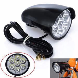 7x светодиодный передний свет для велосипеда, металлический корпус, 80 дБ, мотороллер фара, электрический, для мотоцикла, фонарь велосипед, фо...