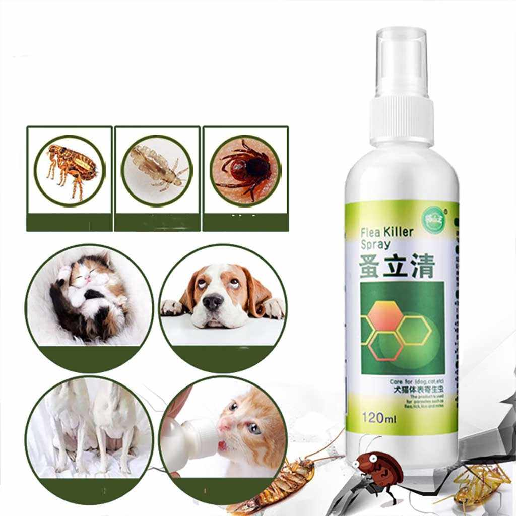 120ML Lice Repellent Treatment Spray Quick And Easy Kills Fleas Ticks Lice Repellent Treatment Spray For Dogs Cats