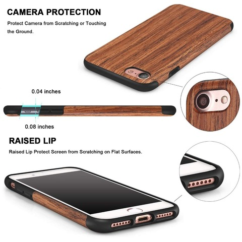 Luxury Wood Grain Phone Case for iPhone 7 8 6 6S Plus Hybrid Soft TPU Silicone Slim Back Cover Case for iPhone X XS MAX XR Coque Karachi