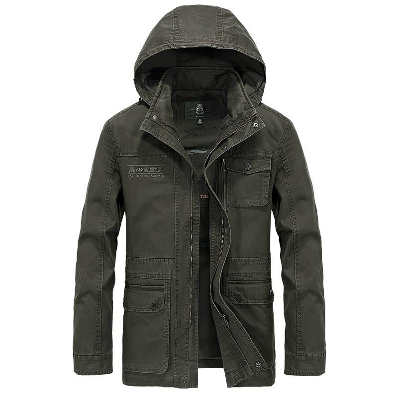 Brand Military Jacket Men High Quality Plus Size M-4XL Men's Winter Autumn Casual Cotton Hooded Mens Jacket Coat