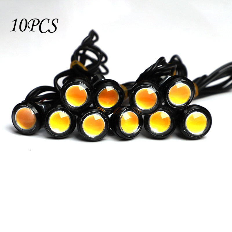 10PCS/Pack 18MM Car Eagle Eye DRL Led Daytime Running Lights LED 12V Backup Reversing Parking Signal Automobiles Lamps
