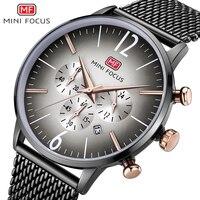 Mini foco marca de luxo relógios masculinos data automática cronógrafo relógio de quartzo esporte casual militar relógio de pulso relogio masculino|Relógios de quartzo| |  -
