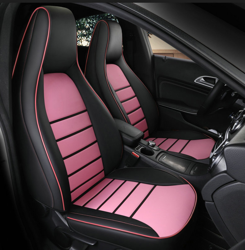 3x Car Front Rear Seat Cover Bamboo Breathable PU Leather Pad Chair Cushion Set
