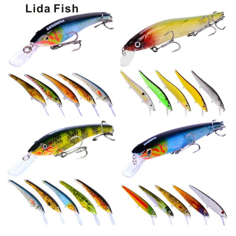 Marque de poisson Lida 24PC appâts de pêche aminés route classique Set appât artificiel environ 540G