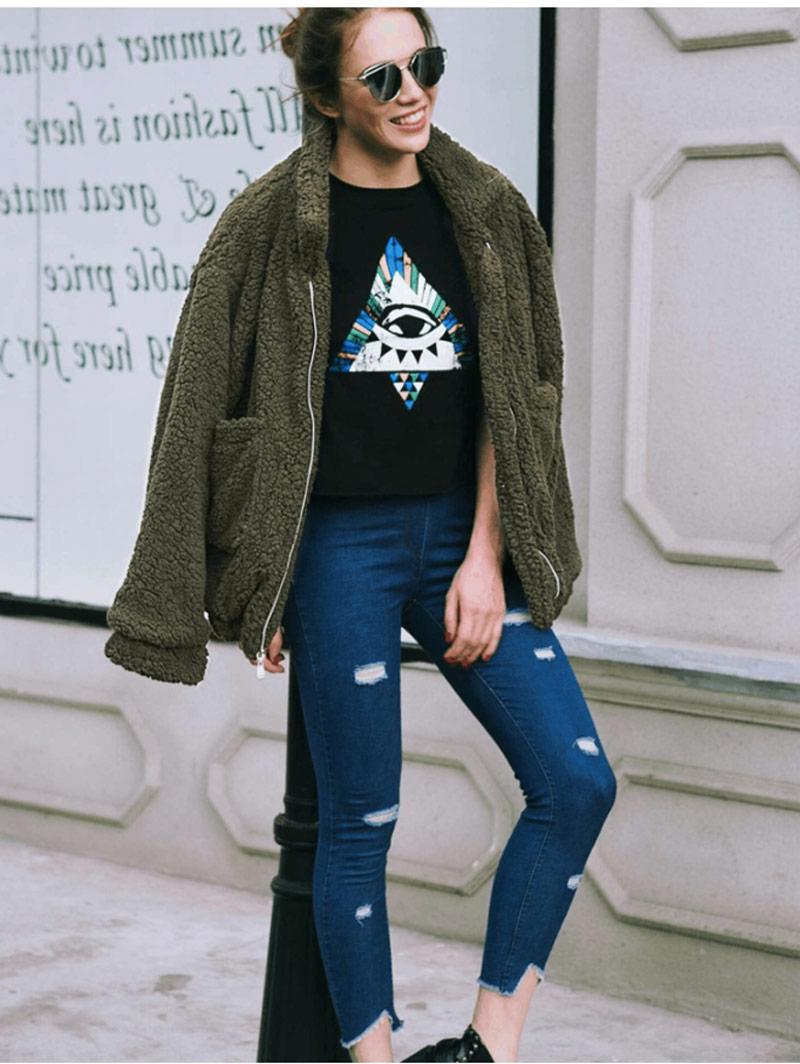 He6061feb1f53429fa202d79297e3df75o Autumn winter jacket female coat 2019 fashion korean style plus size women teddy fur coat female casual jacket woman pusheen