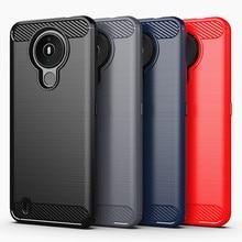 Para nokia 1.4 caso capa para nokia 1.4 capa traseira do telefone escudo funda coque capa estilo negócio tpu silicone caso de telefone protetor