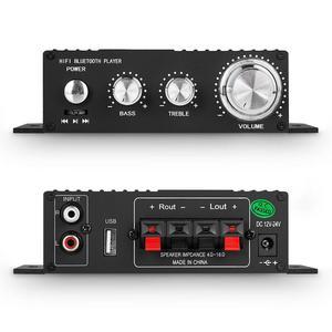 Image 3 - HIFI 100W 2.0 Channel Power Amplifier สเตอริโอเครื่องรับสัญญาณเสียงดิจิตอล Amp สำหรับรถ Marine เครื่องเล่นเพลง USB IR REMOTE