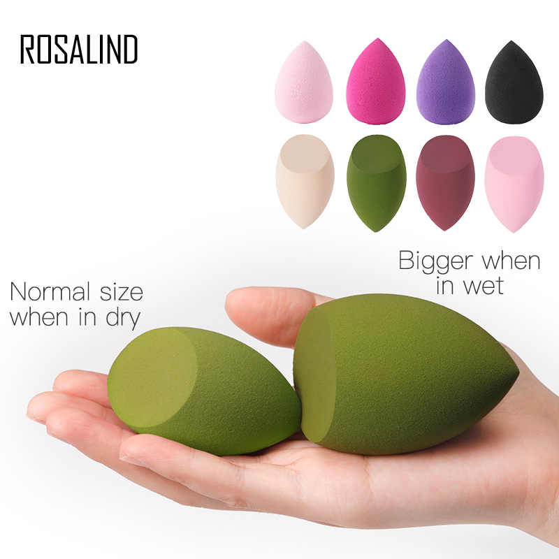 ROSALIND 3pcs Makeup Brush Sponge Puff Powder Foundation High Quality Water Drop Shape Sponge Face Tools Accessories Cosmetic