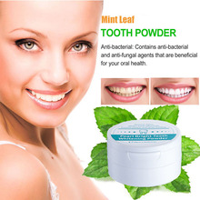 50g Teeth Whitening Oral Care Mint Toothpaste Gel Remove Plaque Stains Teeth Whitener Powder Toothbrush (Witn Bamboo Toothbrush)