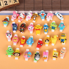 Cartoon Cable Protector Data Line Cord Protector Protective Case Cable Winder Cover For iPhone Huawei Samsung USB Charging Cable cheap LMDAOO Plastic 3 5*2 1cm