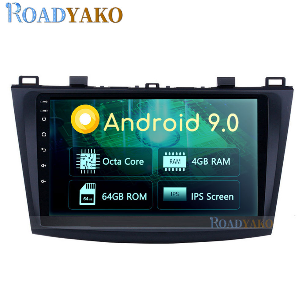 9'' Android Auto Car Radio Video player For <font><b>Mazda</b></font> 3 2004-2013 Stereo 2 Din Autoradio Car Navigation <font><b>GPS</b></font> Multimedia <font><b>system</b></font> image