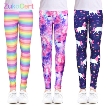 Girls Leggings for Outdoor Travel Clothes Girls Pants Student Casual Wear Customizable Stylish Computer Printing For 4-13 Years 1