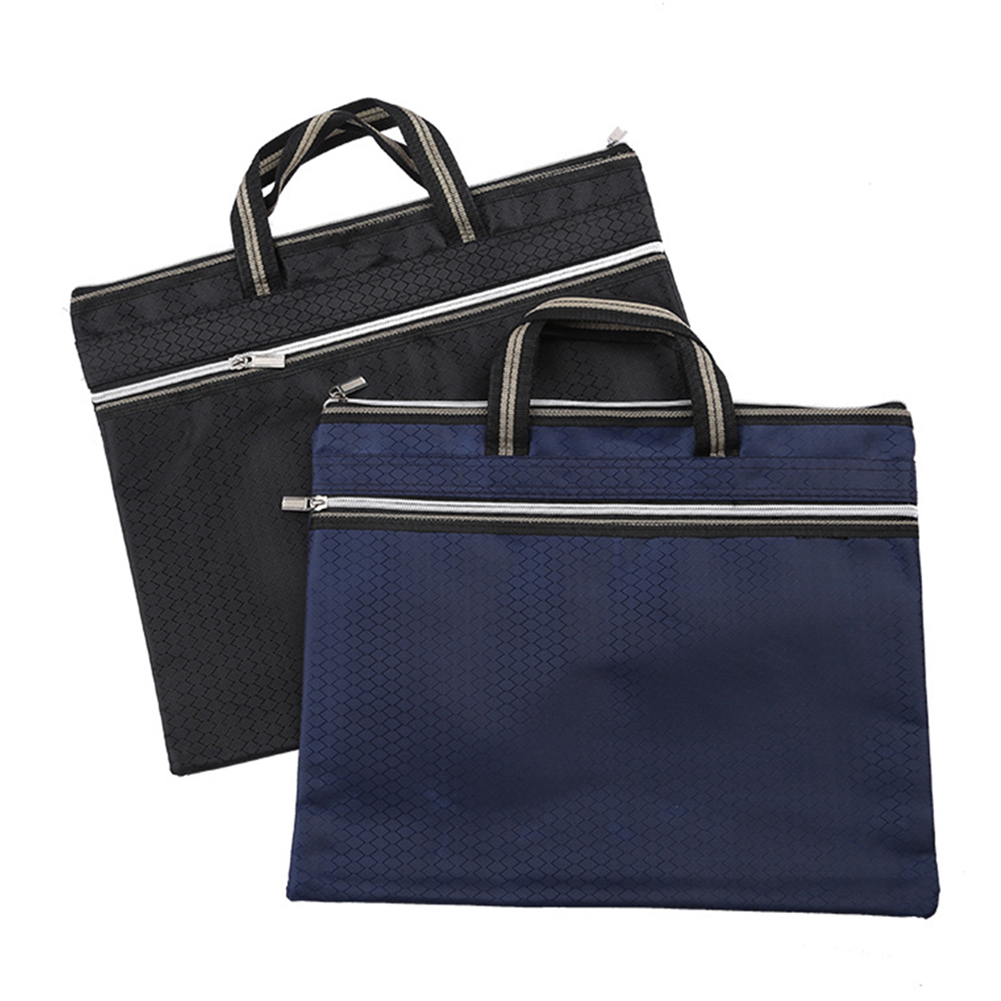 Document Bag Portable File Bag Good Qulity Durable Portable Laptop Bag Double Layer Business Officially Work Bag