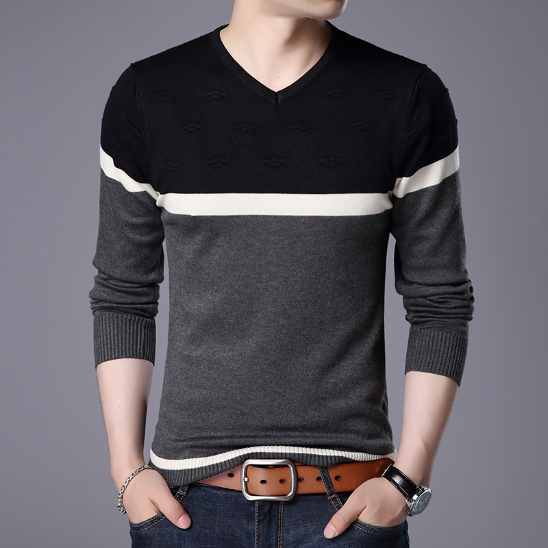 Winter Letter Printing Sweater Men's 2019 New Autumn Pull Homme Casual Slim Fit Brand Knitted Pullovers Erkek Kazak