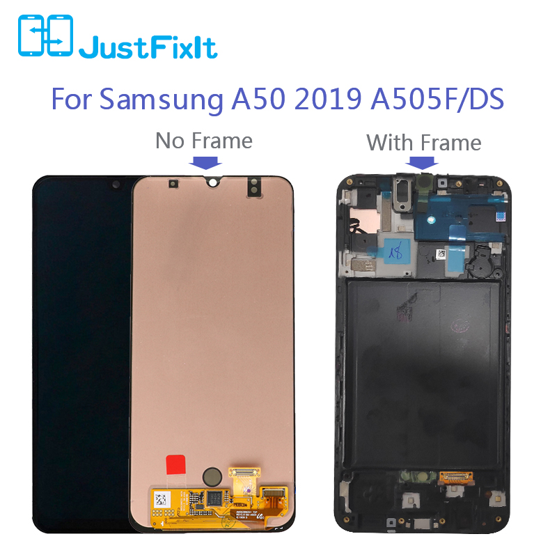 Image 2 - 100% Original For Super Amoled For Samsung Galaxy A50 SM A505FN/DS A505F/DS A505 LCD Display Touch Screen Digitizer Assembly-in Mobile Phone LCD Screens from Cellphones & Telecommunications