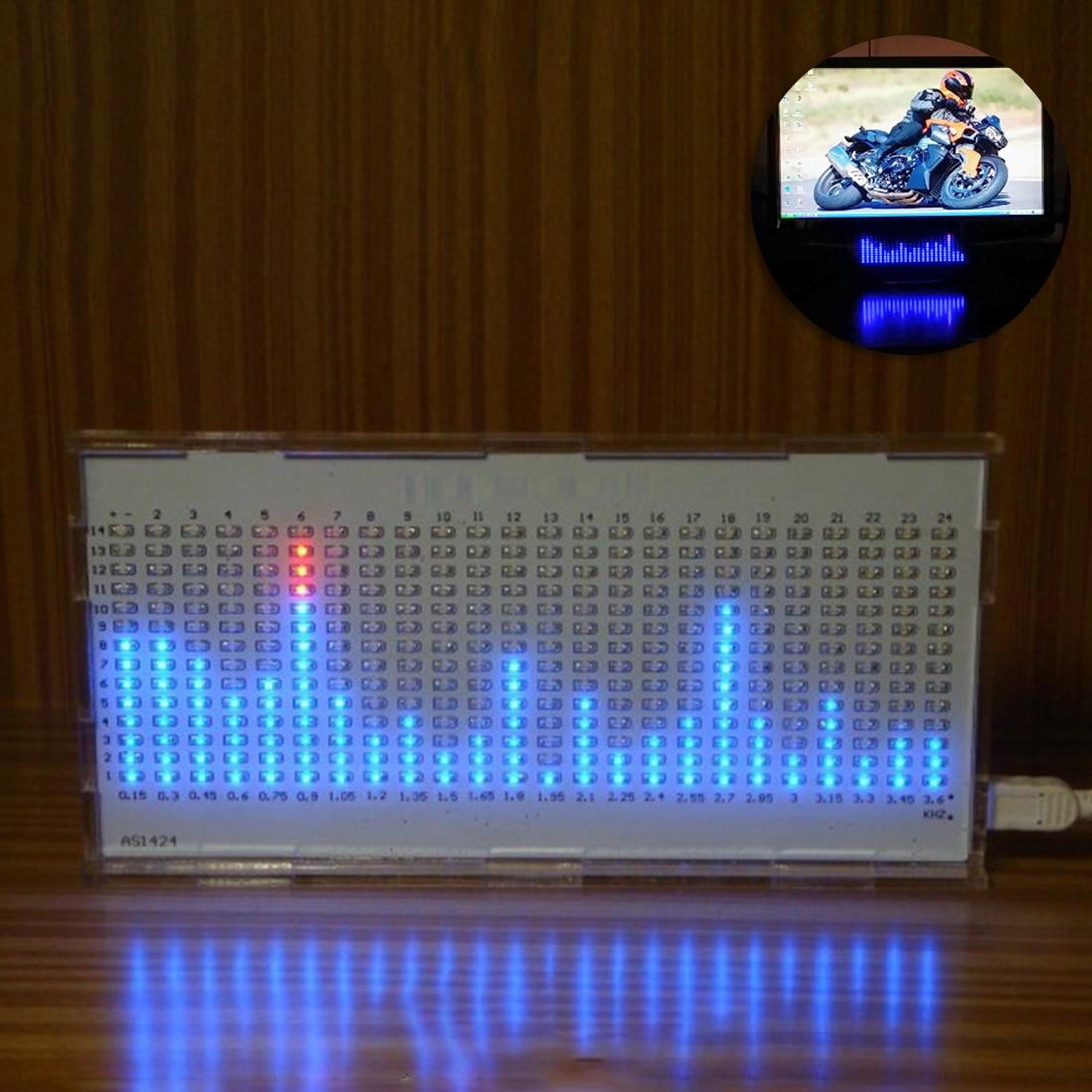 DIY Light Cube Kit AS1424 Music Spectrum LED Display Audio Amplifier Modification Rhythm Lamp - Bulk Parts White/ Black