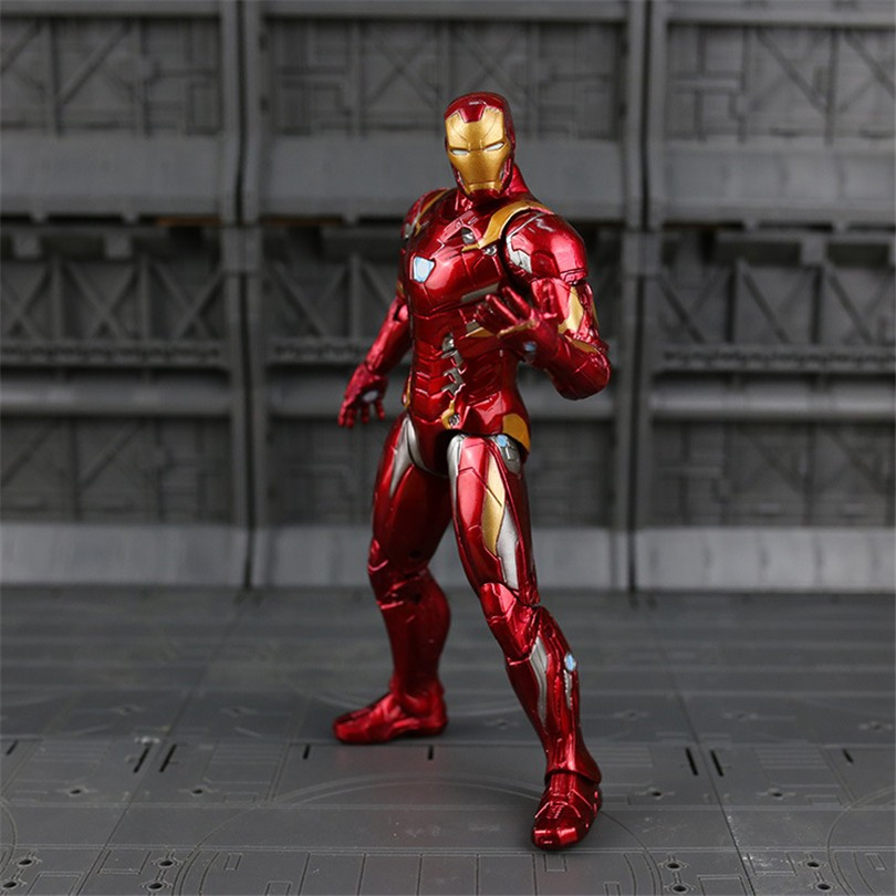 22 CM Wakanda Iron Throne Action Figure Model Toys Iron Man/Captain America Super Hero Marveles De Avengers PVC Collection Toy