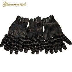 Funimi, mèches de cheveux brésiliens naturels Remy boucle Double dessinée, Extensions capillaires, couleur naturelle, pour femmes