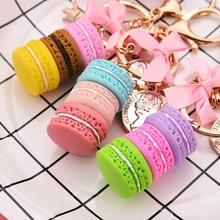 Charm-Accessories Ribbon Key-Chain Car-Keyring-Bag Eiffel-Tower Macaron Lovely Jewelry