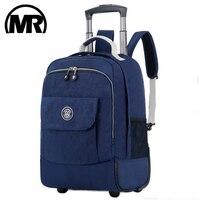 MARKROYAL Roll Trolley Gepäck Reise Rucksack Trolley Roll Taschen Frauen Rädern Rucksäcke Koffer Auf Rädern