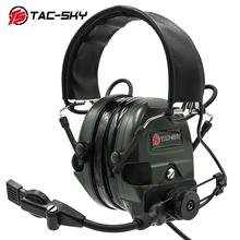 TAC SKY TCI LIBERATOR 1 ซิลิโคน Earmuffs ทหารการได้ยิน Defense ลดเสียงรบกวน Pickups กีฬากลางแจ้งกีฬายุทธวิธีหูฟัง FG