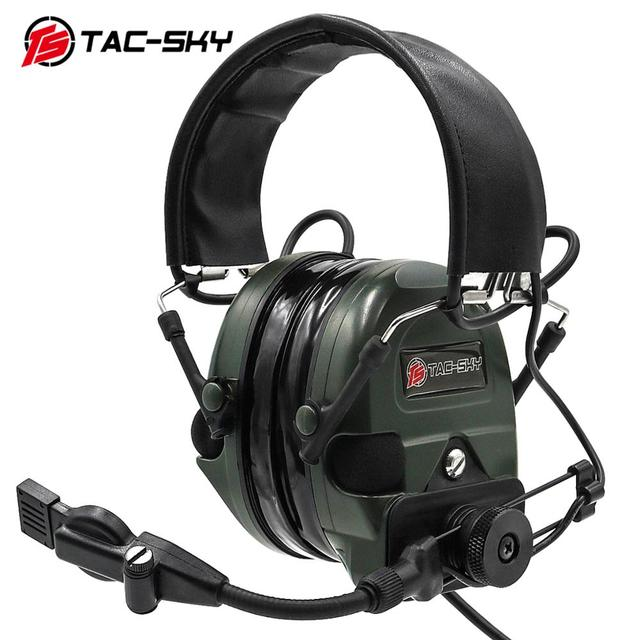 TAC SKY TCI LIBERATOR 1 silicone earmuffs military hearing defense noise reduction pickups outdoor sports tactical headphones FG