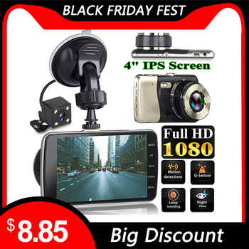 NEW Style 4 Inch LCD Screen 170 Degree Dual Lens HD 1080P Camera Car DVR Vehicle Video Dash Cam Recorder G-Sensor image
