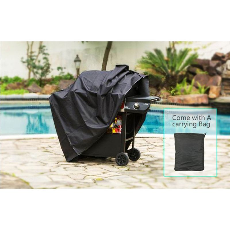 1PC BBQ Cover Outdoor Dust Waterproof Weber Heavy Duty Charbroil Grill Cover Rain Protective Outdoor Barbecue Cover Round Bb 5